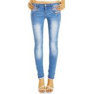 62nd Avenue Damen Jeans Hüfthose Skinny Low Waist 6193 Bekleidung