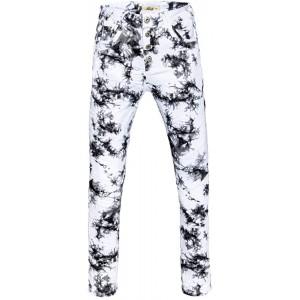 Jewelly Damen Jeans im Batik - Look Boyfriend Schnitt Perfekter Sitz 2668 Bekleidung