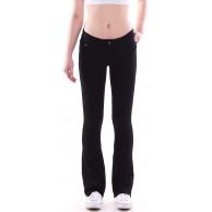 Style-Station Damen Bootcut Hosen Hüftjeans Jeans Schlagjeans schwarz Bekleidung