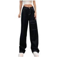 Yiwanjia Damen High Waist Baggy Jeans Mode Straight Leg Jeans Hose mit Hoher Taille 90er Jahre Harajuku Vintage Boyfriend Denim Jeans Hose Bekleidung