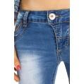 62nd Avenue Damen Jeans Low Waist Skinny Röhrenhose 6202 Bekleidung