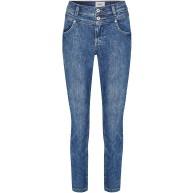 Angels Damen Jeans 'Ornella Button' mit unifarbenem Stoff Bekleidung