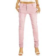 be Styled Damenjeans Stretch Baggy Boyfriend Hüftjeans im Tapered Relaxed Fit - Knopfleiste & Reißverschluss j6i 34 XS-rosa Bekleidung