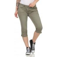 BUENA VISTA Jeans Hosen Damen Malibu Capri Damen Malibu Capri - Lily pad - Olive XL Bekleidung