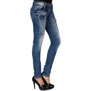 Cipo & Baxx Damen Röhren Jeans Hose Denim Stylisch Stretch Hose Bekleidung