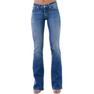 Ghemdilmn Damen Hose mit Weitem Bein und Hoher Taille Denim Straight Beiläufig Weich Pants Damen Straight Fit Jeans Hose Damen Jeanshose Gerader Schnitt Bekleidung