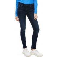 Q S designed by - s.Oliver Damen Slim Fit Dunkelblaue Slim Leg-Jeans Q S designed by Bekleidung