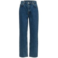 SELECTED FEMME Damen Slfkate Hw Straight Cruz Blue W Jeans Bekleidung