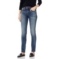 Silver Jeans Damen Avery Curvy Fit High Rise Slim Leg Jeans Bekleidung