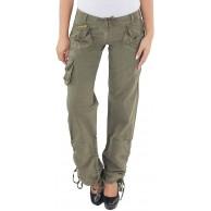 Sotala Damen Cargo Jeans Hose Cargohose Hüfthose Boyfriend Baggy Chino Stretchhose Bekleidung