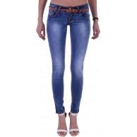 Style-Station Damen Röhrenjeans Hosen Hüftjeans Jeans blau Bekleidung