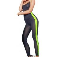 AmyGline Hosen Damen Jumpsuit Rückenfrei Sexy Ärmellos Hohl Enge Overall Sporthose Yoga Hosen Playsuit Romper Jumper Bodysuit Sommer Freizeithose Bekleidung