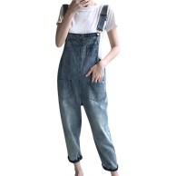 Ansenesna Jeans Latzhose Damen Lang Locker Sommer Elegant Jumpsuit Frauen Einfarbig Denim Overall Bekleidung