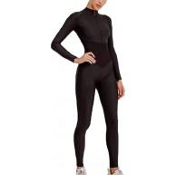 domorebest Frauen nehmen Sport-Yoga-Lange Hülsen-Fitness-Overall-Gymnastik-laufende Bodysuits-Trainings-Klage ab Bekleidung