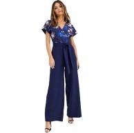 Paper Dolls Damen Jumpsuit Overall blau Gr.42 Bekleidung
