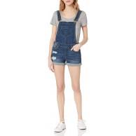Dollhouse Damen Shortall Jeansshorts Bekleidung