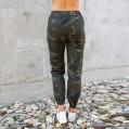 OYSOHE Damen Camouflage Hose mit Taschen Outdoor Lace-Up Casual Hosen Sport Laufen Frauen PantsCamouflage M Bekleidung