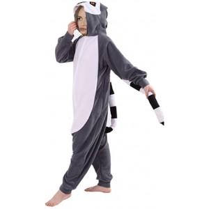 ZOLTA Onesie Lemur S M L Große Cosplay Kostüme Pyjama Erwachsene S Bekleidung