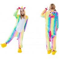 ZOLTA Onesie Rainbow Pink Cosplay Kostüme Pyjama Erwachsene Unisex Bekleidung