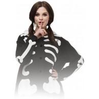 ZOLTA Onesie Skeleton Geripp Große Cosplay Kostüme Pyjama Erwachsene S Bekleidung