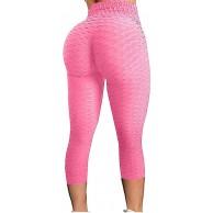 AFFGEQA Damen Yoga Hosen Slim Fit Gamaschen Leggings Keine Taschen haben Blasenmuster Vielzahl Von Farben Kurz geschnittene Hose Sportshorts Hose Mit Hoher Taille Heimhose Yoga Hosen Bekleidung