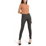 Bamans Damen Kunstleder Leggings Leder Look Schwarz Dünne Elastische Stretch Push Up Hose Slim Fit Hose Schwarz Medium Bekleidung