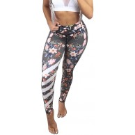 Battnot❤ Damen Sport Leggings Tretch-Hip-Lifting Blumen Bedruckte Lange Yogahosen Frauen Wickeln Sports Hosen Fitness Jogging Training Workout-Laufen Dünne Tanz Enge Bleistift Hosen Womens Pants Bekleidung