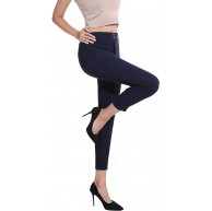 Dreamsy Womens Skinny Leggings Sport Yoga Pants Hohe Taille Hose mit Taschen Stretchy Jeans Jeggings Navy M Bekleidung
