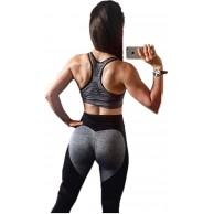 Fliegend Damen High Waist Leggings Yoga Hose Mesh Jogginghose Sporthose Push Up Fitnesshose Laufenhose Herz Patchwork Leggins Workout Gym Skinny Hosen Bekleidung