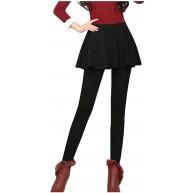 foreverH Damen Leggings mit Rock Einteiler Warm Hose Bekleidung