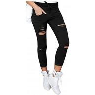 kaking Frauen Hose mit hohe Taille Stretch Skinny Bleistifthose Leggings Bekleidung