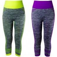 L&K-II Damen Sport Leggings 3 4 Sporthose Strech Fitness Laufhose in mehren Farben und Varianten 4119 Bekleidung