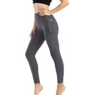 MissMeSweeteen Yogahosen mit Tasche Waben-Leggings mit hoher Taille Lift Hip Butt Tights Slim Tummy für Fitness Bekleidung