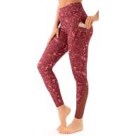 MUMEOMU Hoher Taille Yoga Hose für Frauen Einfarbige Workout-Leggings mit Tasche Hüftlift-Bauchkontroll-Leggings mit Po-Lifting Bauchkontrolle Sport Leggings Aktive Hose mit Bienenwabe Bekleidung