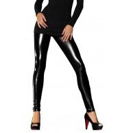 Pariser-Mode Leggings in Lackleder-Optik mit langem Bein Bekleidung