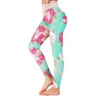 Pxmoda Damen Geraffte Butt Leggings hoch taillierte Workout Sport Bauch Kontrolle Turnhalle Yoga Hosen Bekleidung