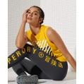 Sport Elastische Training Leggings Ebenholz 44 Bekleidung
