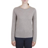 CASH-MERE.CH 100% Bio Kaschmir Damen Pullover | Sweater Rundhalsausschnitt 2-fädig Bekleidung