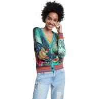 Desigual Damen JERS_tucany Pullover Bekleidung