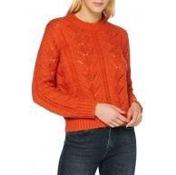 PIECES Damen Pcsenna Ls O-Neck Knit Bc Pullover Bekleidung