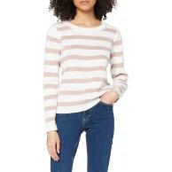 SELECTED FEMME Damen Slfalina Stripe Ls Knit O-Neck Pullover Bekleidung
