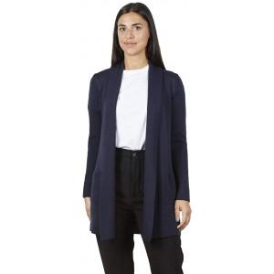 BRUNELLA GORI Waterfall Cardigan mit Seitentaschen - 100% Extrafine Merino Denim Bekleidung