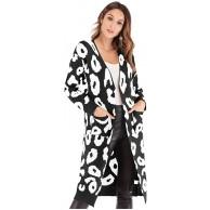 chuangminghangqi Strickjacke Damen lang Casual Knit Sweater Langarm Elegant Cardigan Strickmantel mit Taschen Outwear Winter Offene Tops Bekleidung