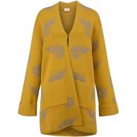 MONA Strickjacke in modischer Kimono Form Senfgelb Bekleidung