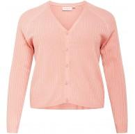 ONLY Carmakoma Damen Strickjacke Amalia rosa M XL Bekleidung