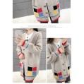 Strickmantel Für Damen Frühling Herbst Frauen Korean Casual Strickpullover Tasche Einreihige Oberbekleidung Female Long Cardigan Bekleidung