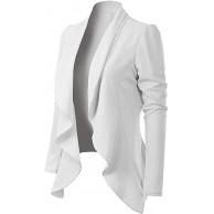 SUCES Damen Blazer Strickjacke Elegantes Anzugjacke Cardigan Herbstjacke Slim fit Frauen Jacke Langarmshirt üBergangsjacke Outwear Coat Freizeitjacke für Arbeit Büro Bekleidung