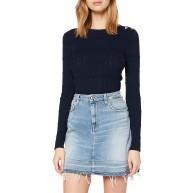 7 For All Mankind Damen A Line Skirt Jeans Bekleidung