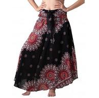 Andouy Lange Maxiröcke für Frauen Gypsy Hippie Kleidung Elastische Taille Bohemian Boho Röcke Bekleidung