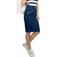 Damen Freizeit Rock Bleistift Boutique Knielang Blau Denim Jeans Größe EU 36 38 40 42 44 46 48 50 Bekleidung